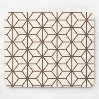 Brown et motif géométrique beige d'art déco tapis de souris