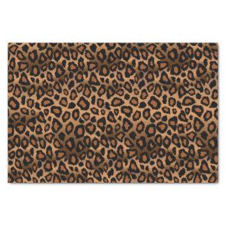 Brown et poster de animal noir de léopard papier mousseline