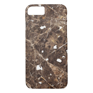 Brown moderne et pierre de marbre blanche coque iPhone 7