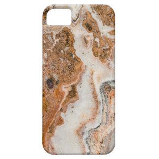 Brown moderne et remous de marbre blancs coque Case-Mate iPhone 5