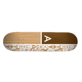 Brown, motif bronzage de damassé skateoard personnalisé