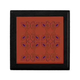 Brown ornemente   peint à la main boîte à souvenirs