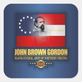 Brown (patriote du sud) sticker carré