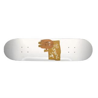 Brown vont organique skateboard old school  21,6 cm