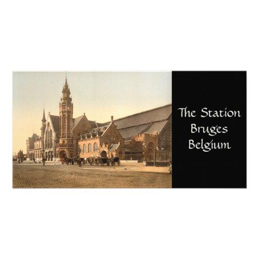 Bruges - la station, Belgique Photocartes Personnalisées