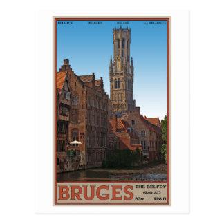 Bruges - le beffroi carte postale