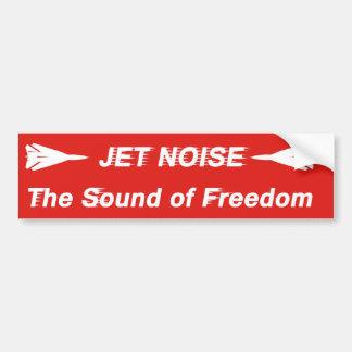 Bruit de jet autocollant de voiture