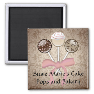 Bruit élégant de gâteau de damassé de cacao magnet carré