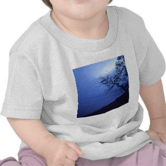 Brume bleu-foncé de Lakeside de nature T-shirts