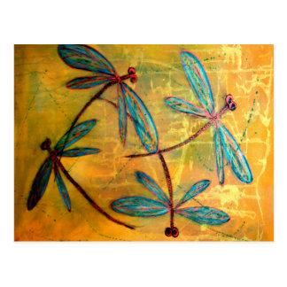 Brume de libellule cartes postales