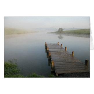 brume de matin carte de vœux