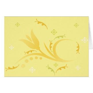 Brume de tulipe dans la carte jaune