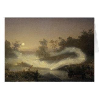 Brume féerique dans le clair de lune carte de vœux