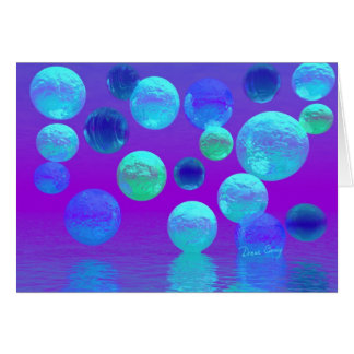 Brume violette - lumière abstraite cyan et de cartes