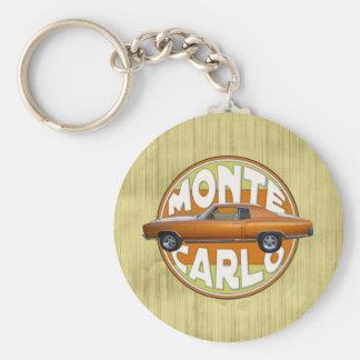 brun 1970 de cuivre de chameau de Monte Carlo Porte-clé Rond