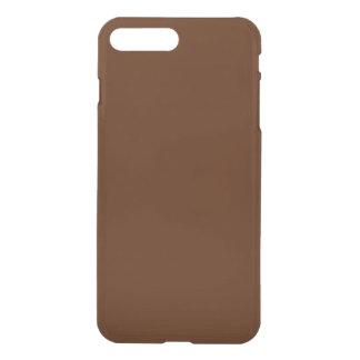 Brun chocolat personnalisable moderne coque iPhone 7 plus