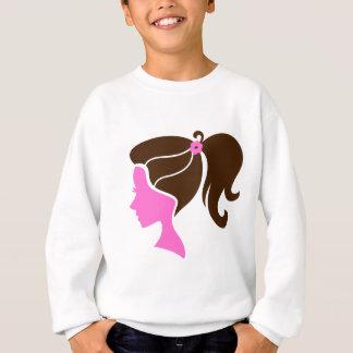 Brun de luxe de rose de portrait de filles sweatshirt