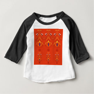 Brun de luxe d'édition de mandalas t-shirt pour bébé
