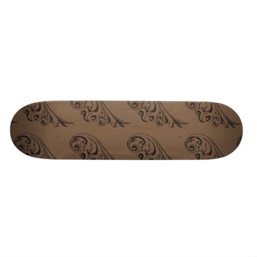 Brun de motif de Nouveau d'art Plateaux De Skateboards