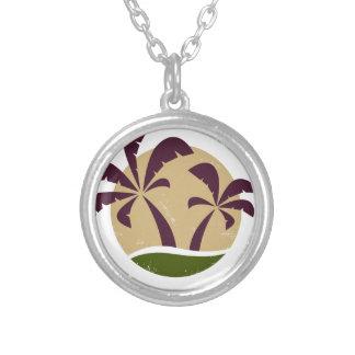 Brun vintage de luxe de symbole de paumes collier