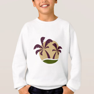 Brun vintage de luxe de symbole de paumes sweatshirt