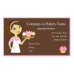 Brune/Baker de petit gâteau/carte de visite roses