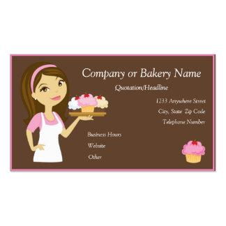Brune/Baker de petit gâteau/carte de visite roses Carte De Visite Standard