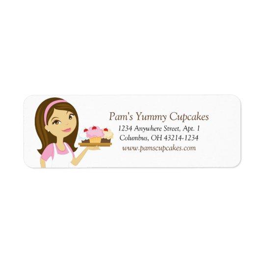 Brune/étiquettes de adresse roses de retour de étiquette d'adresse retour