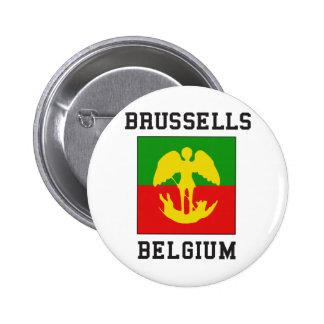 Bruxelles Belgique Badge Rond 5 Cm