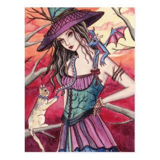 Bryanne - carte postale de sorcière de dragon