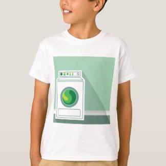 Buanderie de machine à laver t-shirt