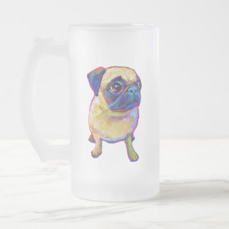 Bubba le carlin frosted glass beer mug