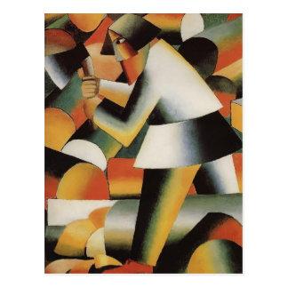 Bûcheron par Kazimir Malevich Cartes Postales