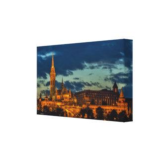 Budapest à la copie de toile de nuit