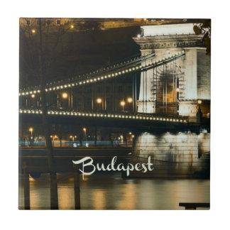 Budapest, Hongrie la nuit Petit Carreau Carré