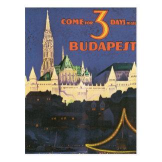 Budapest vintage carte postale
