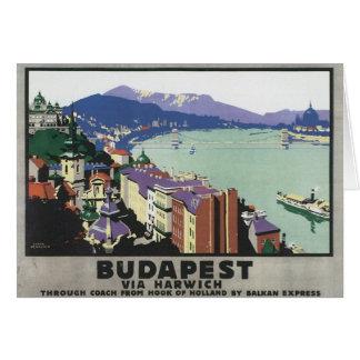 Budapest vintage Hongrie Carte De Vœux