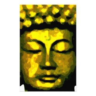 Buddha tête motifs pour papier à lettre