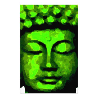 Buddha tête papier à lettre customisable