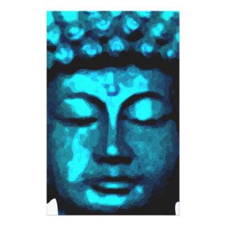 Buddha tête papier à lettre customisé