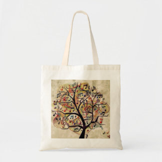 Budget Fourre-tout d'arbre de musique Tote Bag