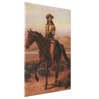 Buffalo Bill sur Charlie par Cary cowboys Toiles Tendues Sur Châssis
