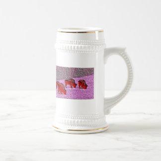 Buffalo de rose d art de bruit tasse à café