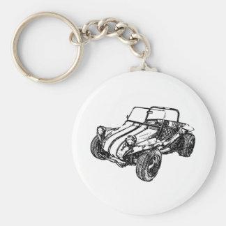 Buggy des sables porte-clé rond