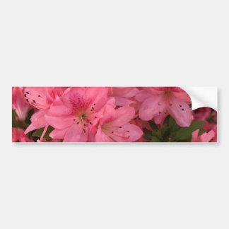 Buisson fleurissant rose lumineux autocollant de voiture