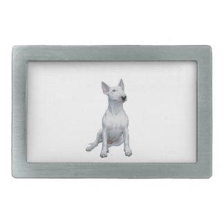 Bull-terrier (a) - Blanc Boucle De Ceinture Rectangulaire
