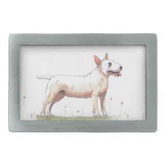 Bull-terrier anglais boucle de ceinture rectangulaire