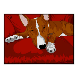 Bull-terrier anglais paresseux affiches