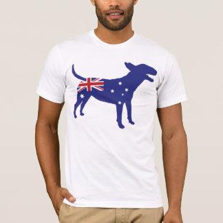 Bull-terrier anglais/pièce en t australienne de t-shirt
