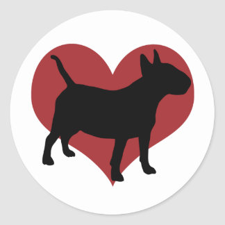Bull-terrier Sticker Rond
